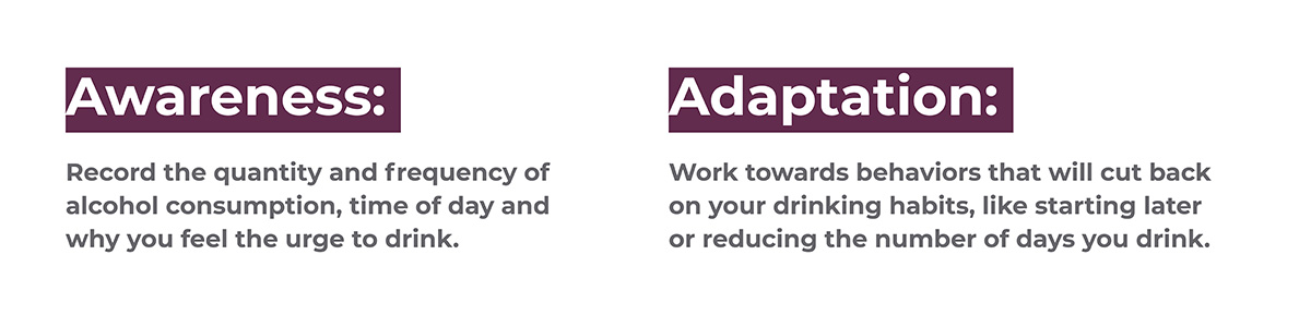 explanation of the awareness and adaptation method to reduce drinking.
