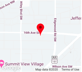 Map view of Cedar Rapids Location